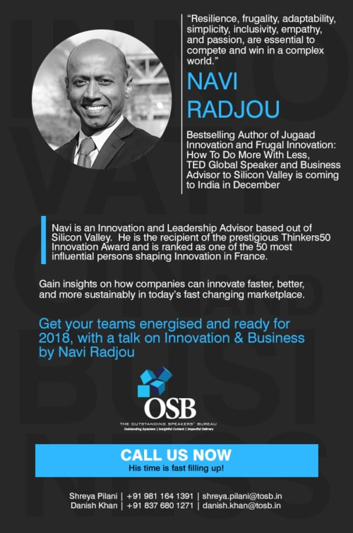 Get your Teams Supercharged with Navi Radjou via TOSB