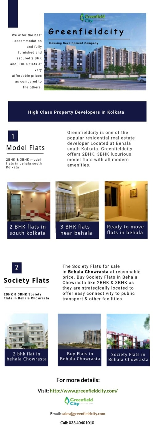 Buy Model flats in behala chowrasta via Green Fieldcity