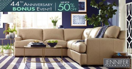 44th Anniversary Event- Get Stylish and Comfortable Sectiona... via JenniferFurniture
