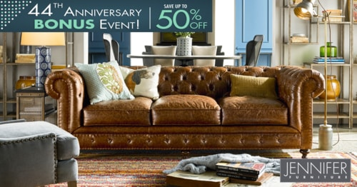 44th Anniversary Event– Buy Leather Sofa Online Jennifer Fur... via JenniferFurniture