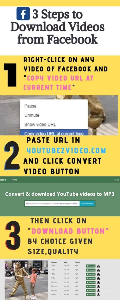 3 Simple Steps to Download Videos from Facebook via Youtube2video