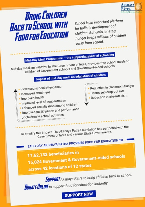 Infographics for education :: Bring Children Back to School ... via Akshaya Patra