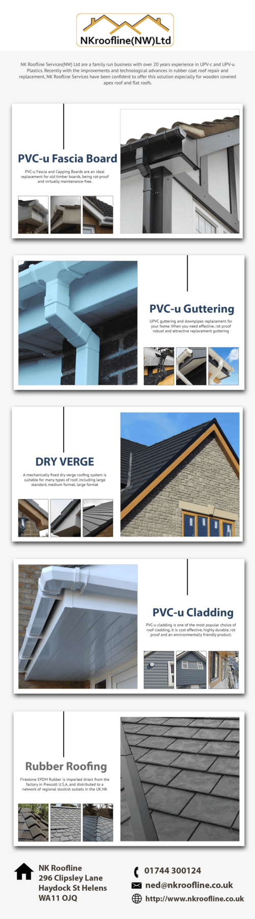 PVC-u Fascia and Capping Boards are an ideal replcements fot... via NK Roofline Services(NW) Ltd