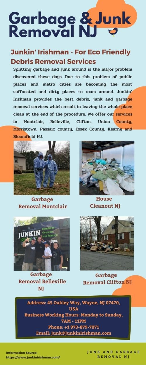 Get Best Junk and Garbage Removal Services in all NJ via Junkin' Irishman