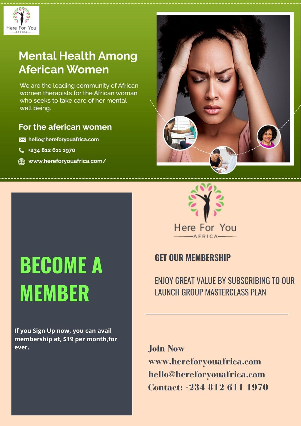 Here For You Africa | Become A Member | Mental Health Therap... via Here For You Africa Ltd