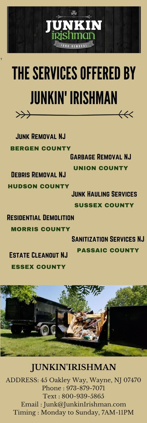 Leading Platform of Cleaning Services in New Jersey via Junkin' Irishman