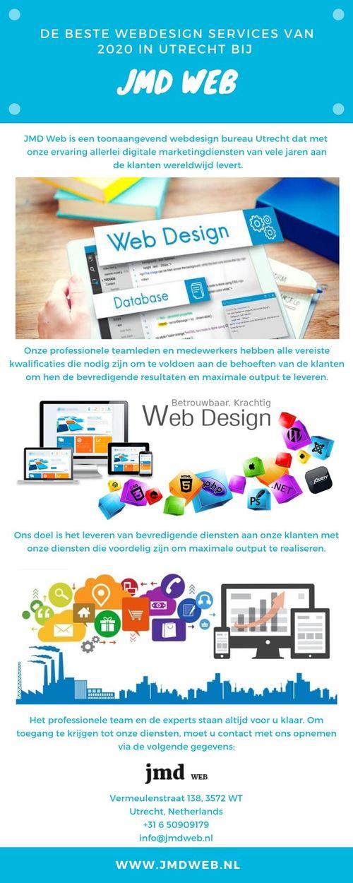JMD Web biedt de beste Webdesign Utrecht Services van 2020 via JMD Web