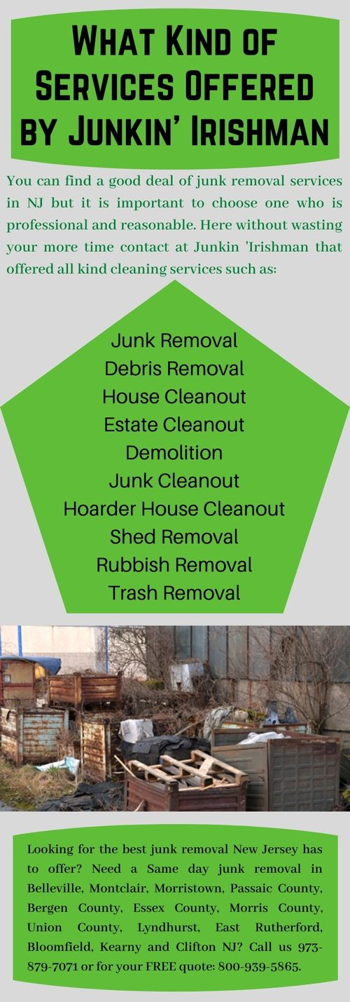 Find Best Junk Cleanout Services in NJ? via Junkin' Irishman
