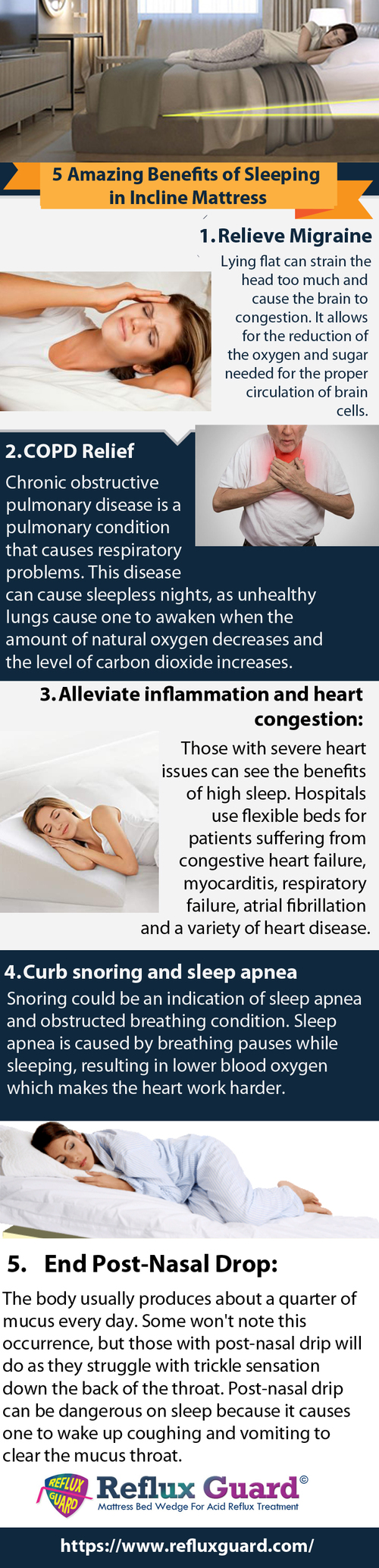 5 Amazing Benefits of Sleeping in Incline Mattress via Reflux Guard