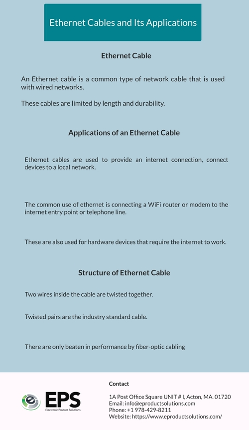 Ethernet Cables and Its Applications                                                                          An Ethernet cable is a... via Eproductsolutions