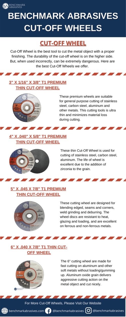 Cut-Off Wheel is the best tool to cut the metal object with ... via Benchmark Abrasives