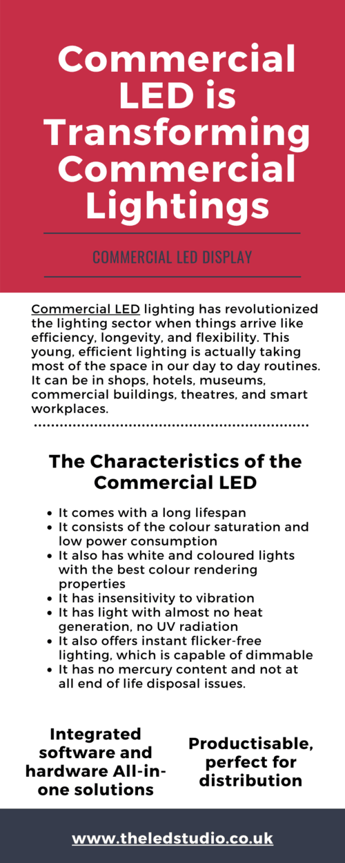 Commercial LED is Transforming Commercial Lightnings via Rob Studio