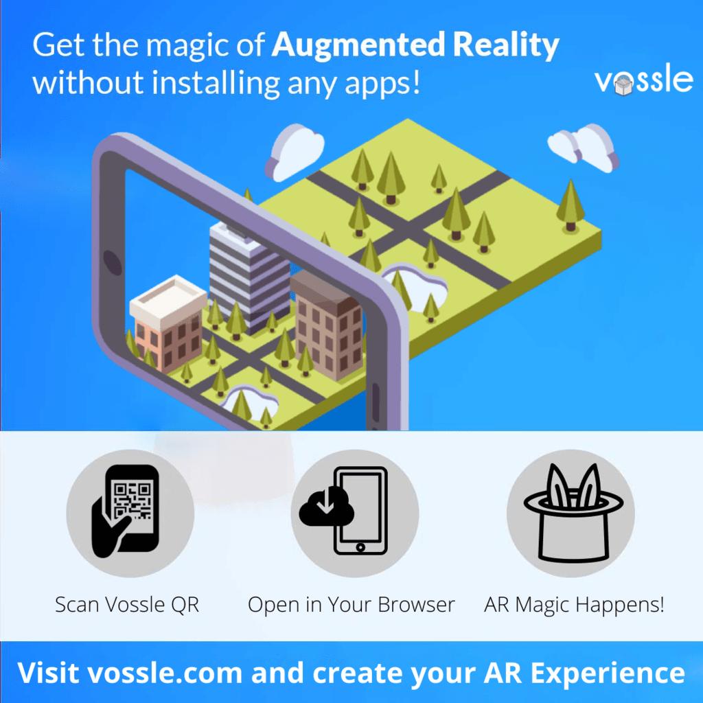 Create WebAR Experience in 3 Simple Steps. Create Now: via Vossle