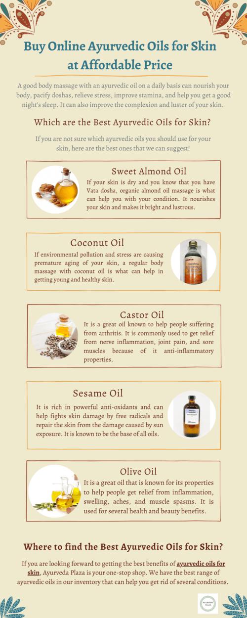 Buy Online Ayurvedic Oils for Skin at Affordable Price via Ayurveda Plaza