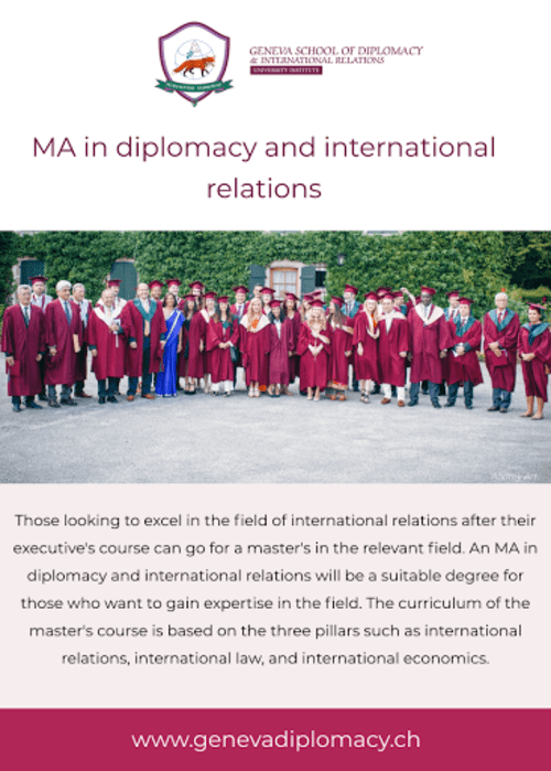 MA in Diplomacy and International Relations via Jack Wilson