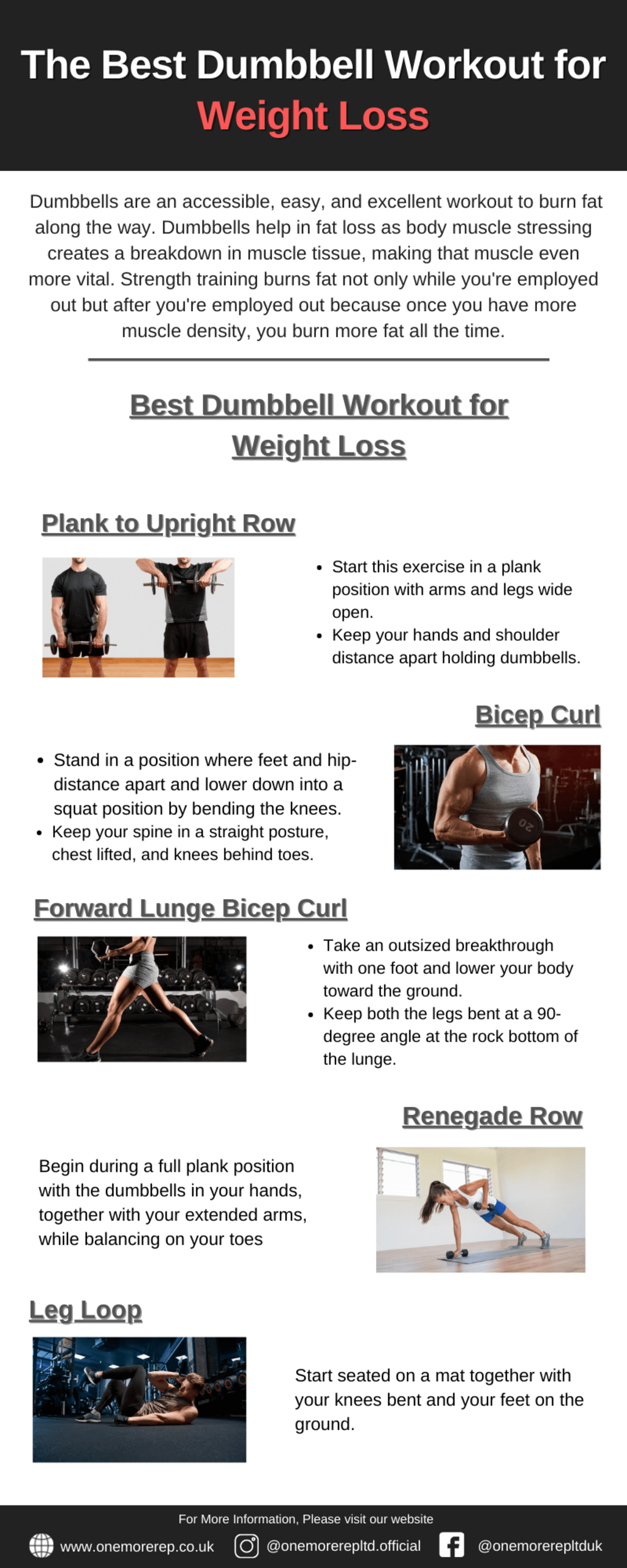 The Best Dumbbell Workout for Weight Loss via OneMoreRep