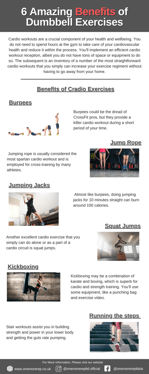 Best cardio exercises for your fitness routine via OneMoreRep