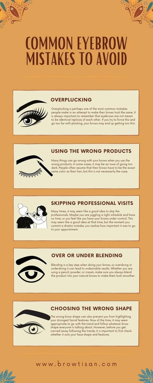Common Eyebrow Mistakes to Avoid via Browtisan