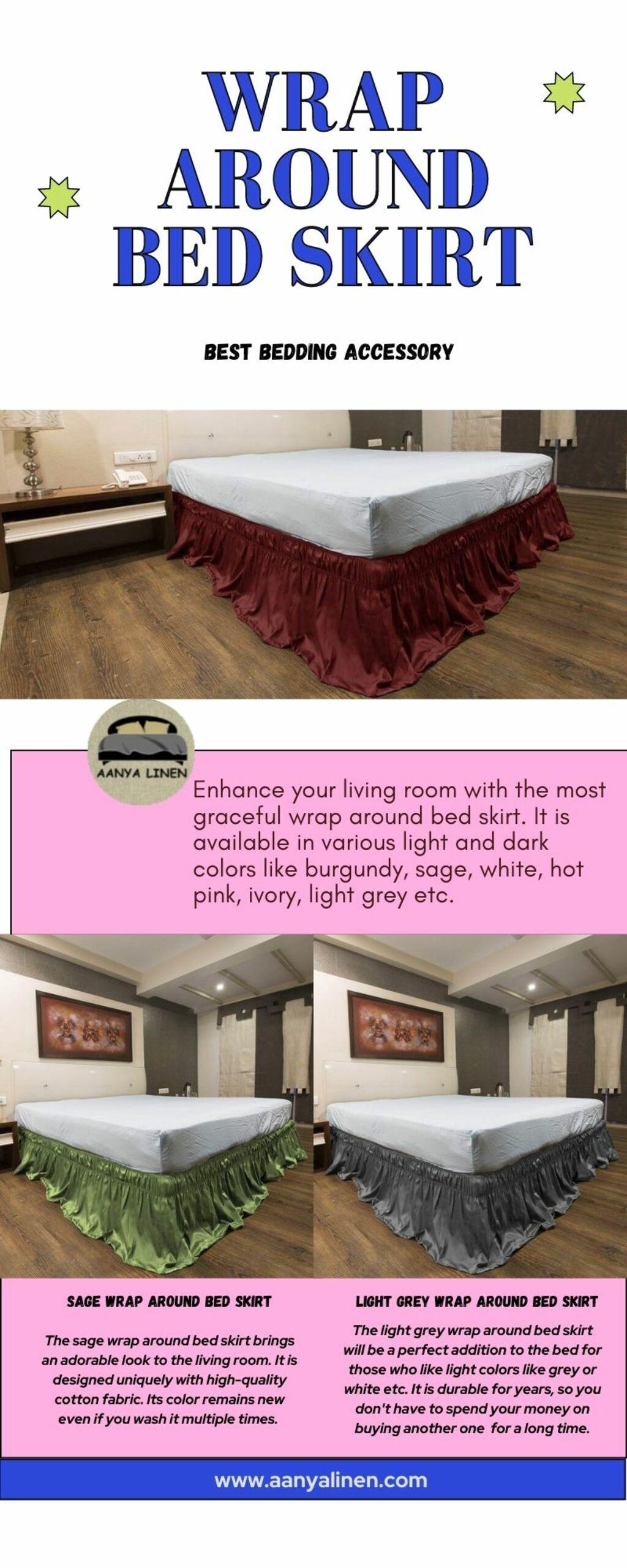 Wrap Around Bed Skirt via louren roy
