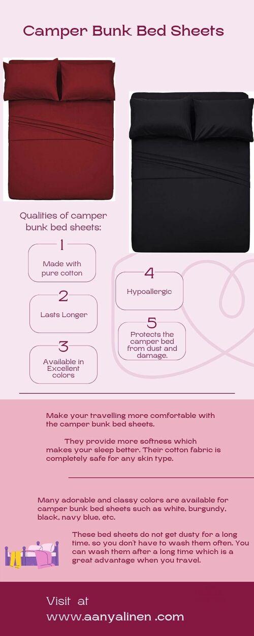 Camper Bunk Bed Sheets via louren roy
