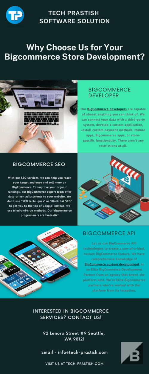 Why Choose Us for Bigcommerce Store Development? via Tech Prastish Software Solutions