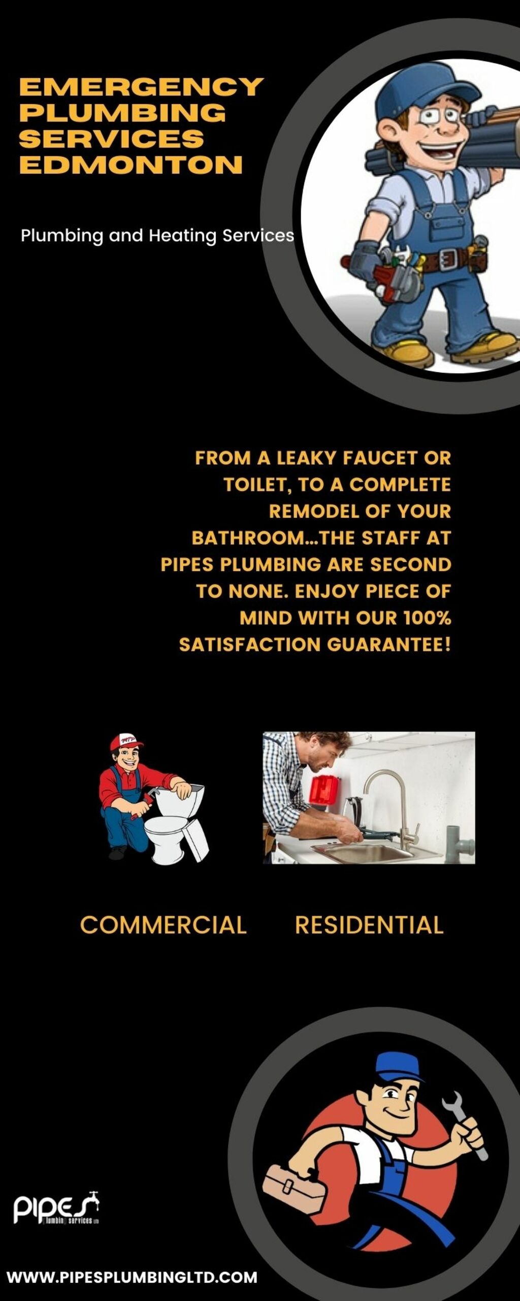 Emergency Plumbing Services in Edmonton via Pipes Plumbing