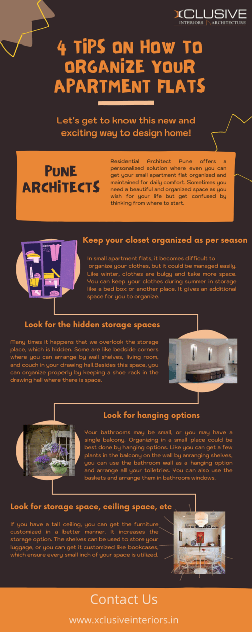 4 Tips on How to Organize your Apartment Flats via xclusive Interior