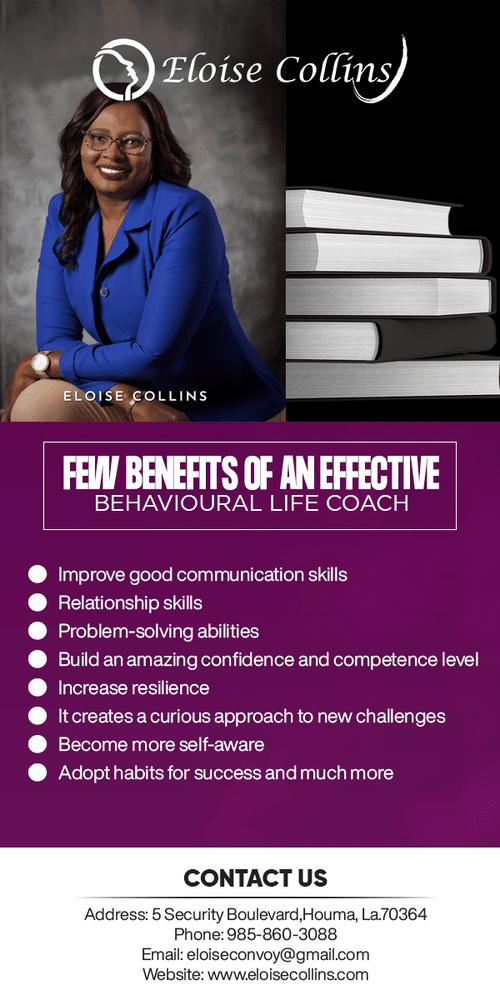Few benefits of an effective Behavioural Life Coach via Eloise Collins