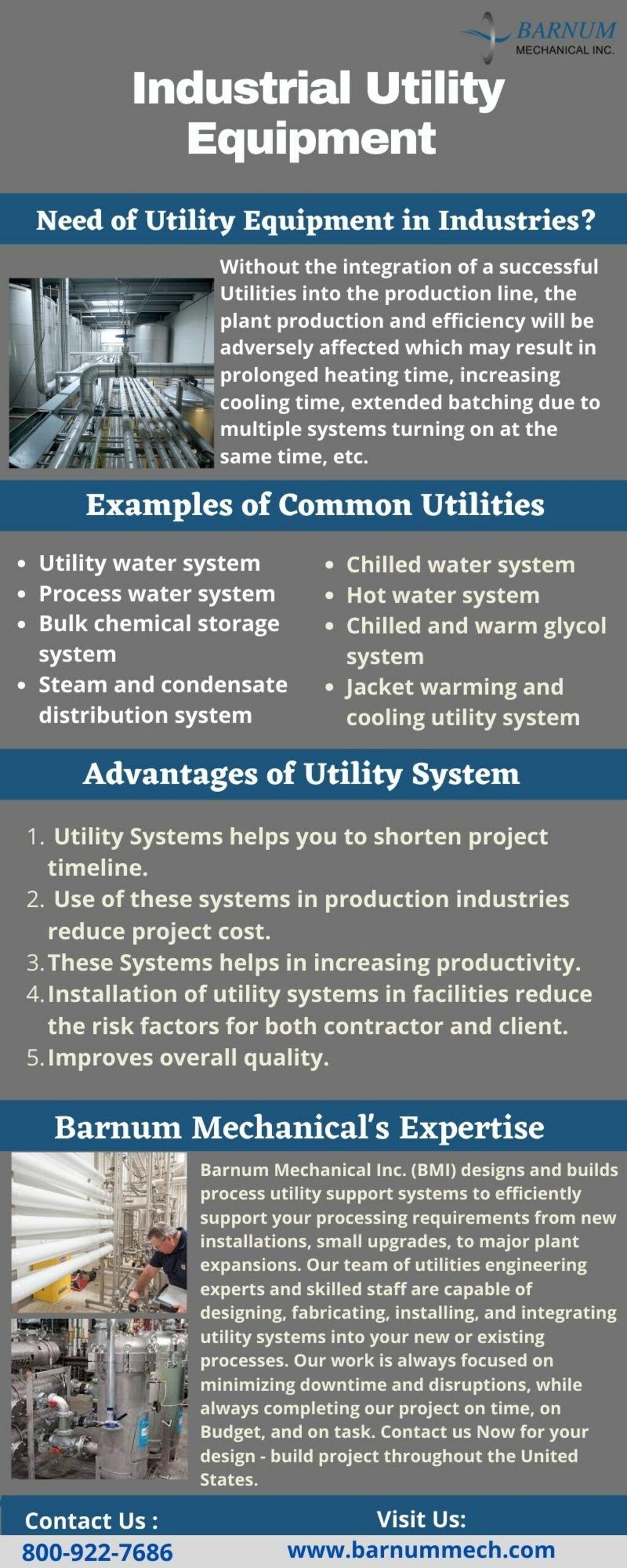 Industrial Utility Equipment Design and Fabrication - Barnum... via Barnum Mechanical
