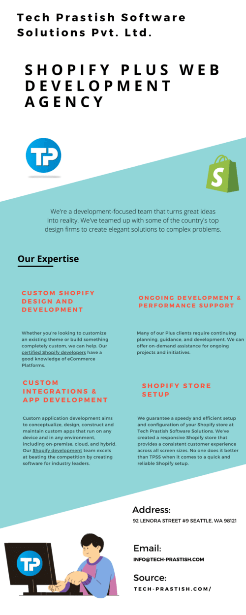Hire a Shopify development team from Tech Prastish via Tech Prastish Software Solutions