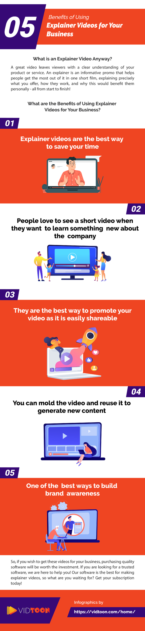 Benefits of Using Explainer Videos for Your Business via Vidtoon